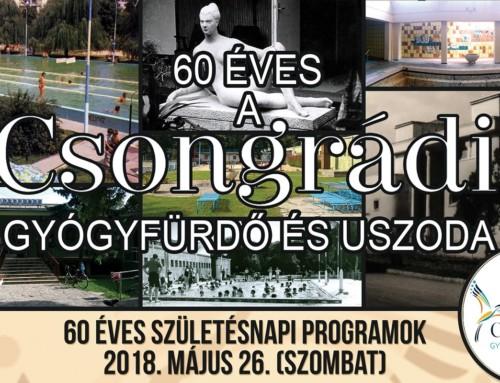 60 éves a csongrádi fürdő – születésnapi programok