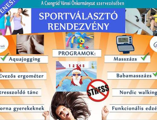 Sportválasztó rendezvény – 2018. 12. 07.