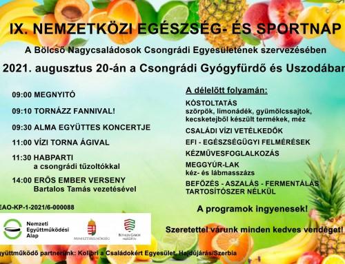 XI. Nemzetközi Egészség- és Sportnap